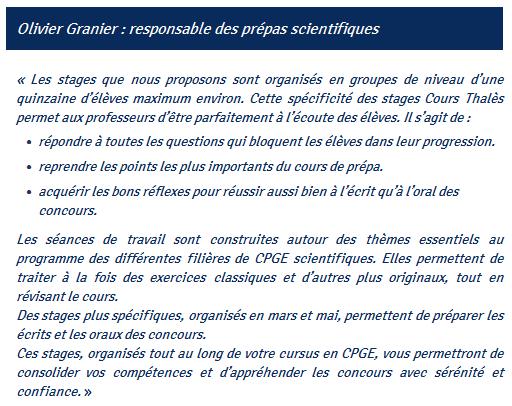 Vous avez toutes les chances de réussir votre Prépa Scientifique avec les Cours Thalès