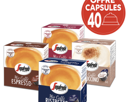 Capsule de café San Marco et capsule Segafredo à moins 15 %...